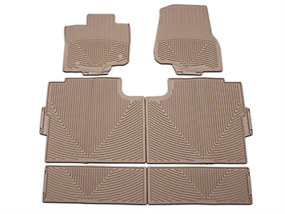 Weathertech All Weather Front, Rear, & Under Rear Seat Rubber Floor Mats - Tan (15-17 SuperCrew)