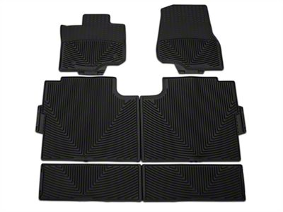 Weathertech All Weather Front, Rear, & Under Rear Seat Rubber Floor Mats - Black (15-19 F-150 SuperCrew)
