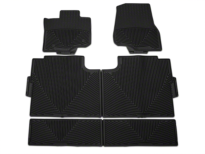 Weathertech All Weather Front, Rear, & Under Rear Seat Rubber Floor Mats - Black (15-18 SuperCrew)