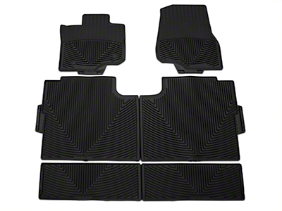 Weathertech All Weather Front, Rear, & Under Rear Seat Rubber Floor Mats - Black (15-17 SuperCrew)