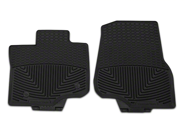 Weathertech All Weather Front Rubber Floor Mats - Black (15-19 F-150 SuperCab, SuperCrew)