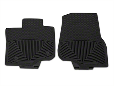 Weathertech All Weather Front Rubber Floor Mats - Black (15-17 SuperCab, SuperCrew)