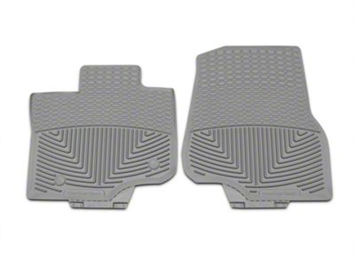 Weathertech All Weather Front Rubber Floor Mats - Gray (15-19 F-150 SuperCab, SuperCrew)