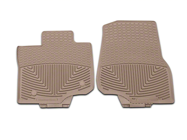 Weathertech All Weather Front Rubber Floor Mats - Tan (15-18 SuperCab, SuperCrew)