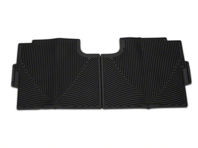 Weathertech All Weather Rear Rubber Floor Mats - Black (15-19 F-150 SuperCab, SuperCrew)