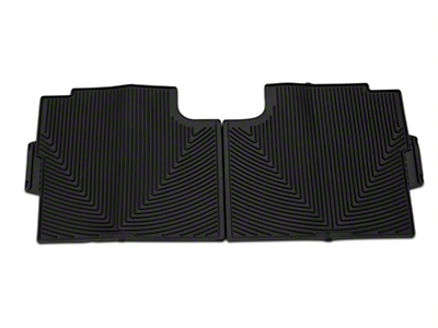 Weathertech All Weather Rear Rubber Floor Mats - Black (15-17 SuperCab, SuperCrew)