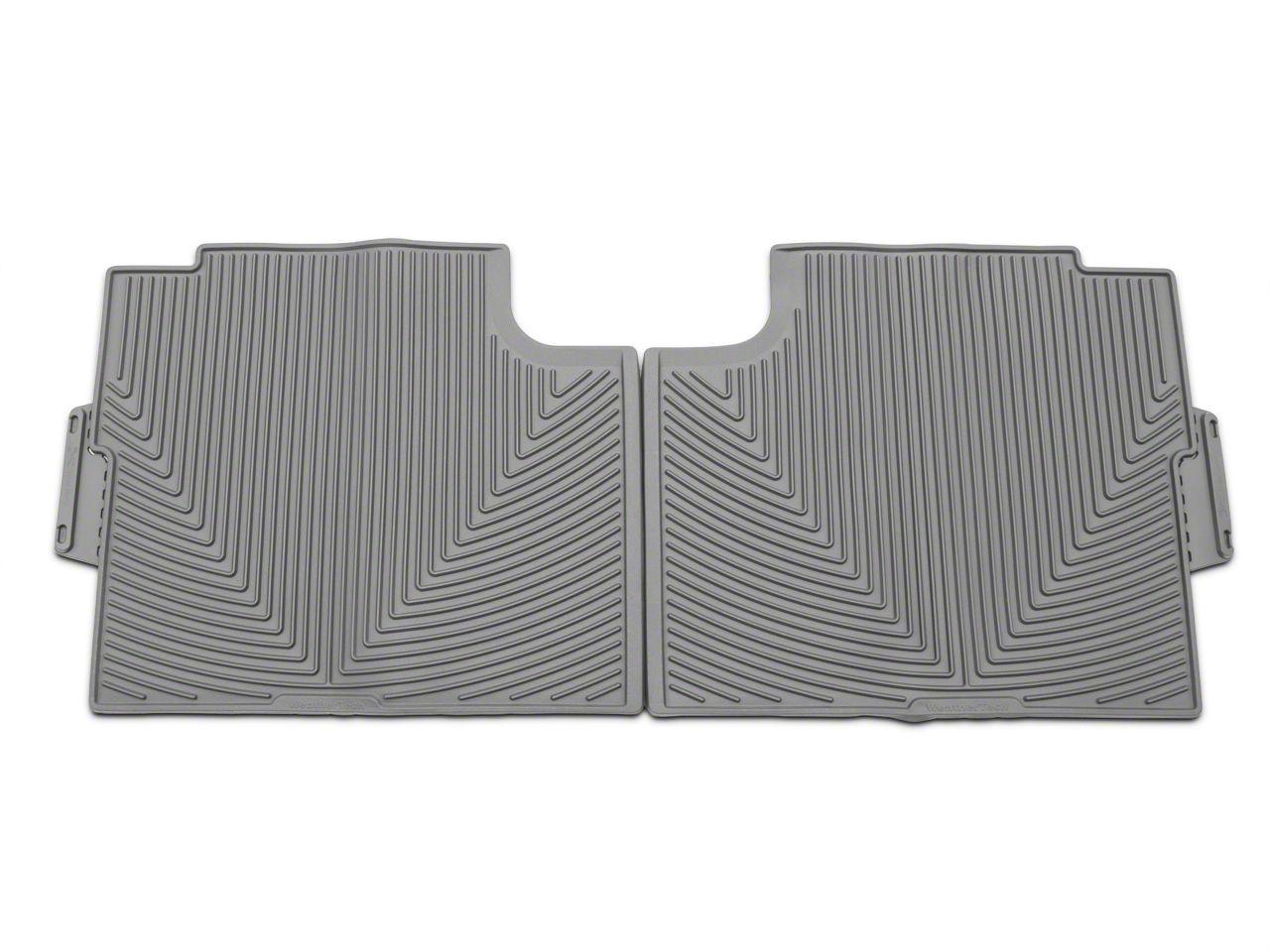 Weathertech All Weather Rear Rubber Floor Mats - Gray (15-19 F-150 SuperCrew)