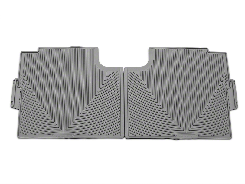 Weathertech All Weather Rear Rubber Floor Mats - Gray (15-18 SuperCab, SuperCrew)