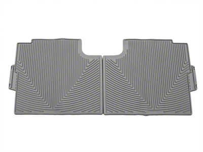Weathertech All Weather Rear Rubber Floor Mats - Gray (15-18 F-150 SuperCab, SuperCrew)