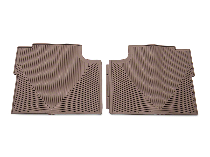 Weathertech All Weather Rear Rubber Floor Mats - Tan (15-17 SuperCab, SuperCrew)