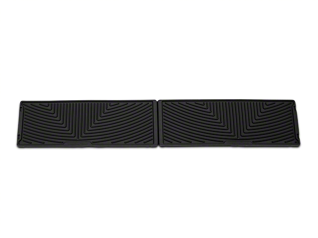 Weathertech All Weather Under Rear Seat Rubber Floor Mats - Black (15-17 SuperCrew)