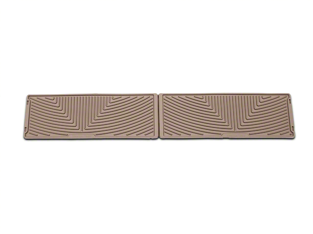 Weathertech All Weather Under Rear Seat Rubber Floor Mats - Tan (15-18 F-150 SuperCrew)