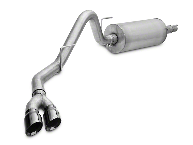 Corsa 3-Inch Sport Single Exhaust System with Twin Black Tips; Side Exit (15-20 5.0L F-150)