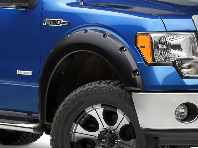 Bushwacker 1.5 in. Pocket Style Fender Flares - Matte Black (09-14 F-150 Styleside, Excluding Raptor)