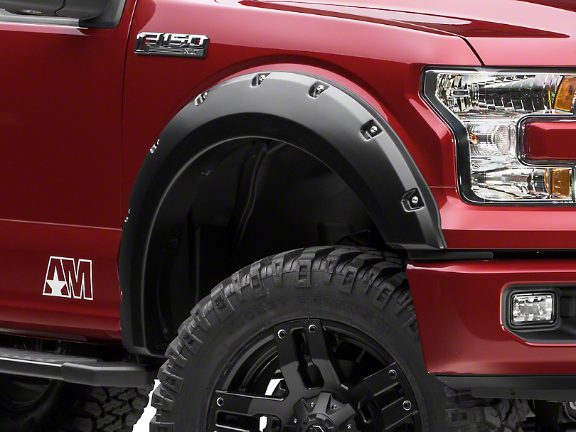 Bushwacker Pocket Style Fender Flares - Matte Black (15-17 F-150, Excluding Raptor)