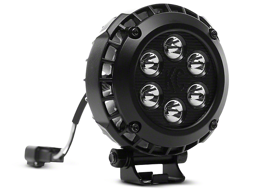 KC HiLiTES 4 in. LZR Round LED Lights - Driving Beam - Pair (97-18 All)