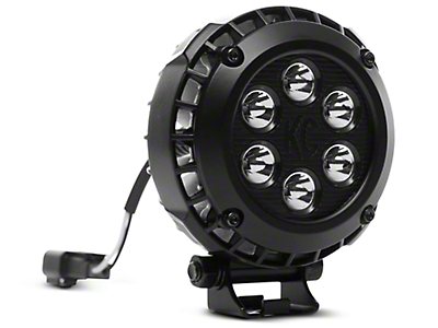 KC HiLiTES 4 in. LZR Round LED Lights - Spot Beam - Pair (97-18 F-150)