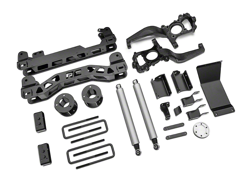 Rough Country 4 in. Suspension Lift Kit (15-20 4WD F-150 SuperCab, SuperCrew; Excluding Raptor)