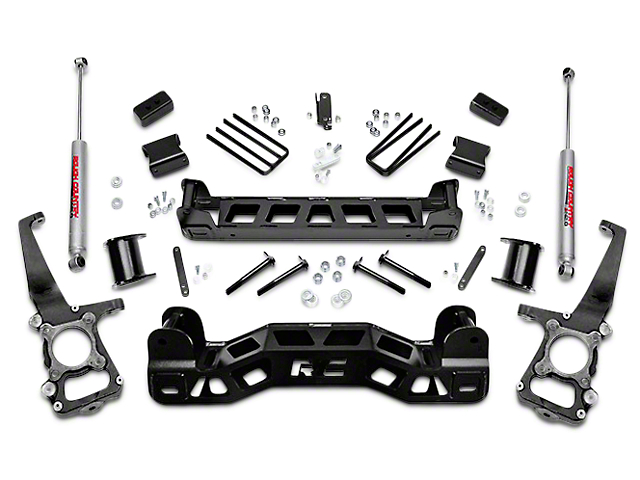 Rough Country 4 In Suspension Lift Kit W Upper Strut Ers 09 14 2wd F 150 11 4wd Excluding Raptor
