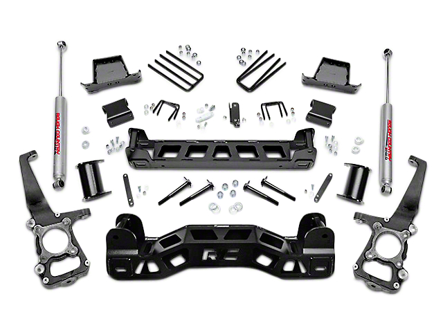 Rough Country 6 in. Suspension Lift Kit w/ Upper Strut Spacers (09-14 2WD; 11-14 4WD, Excluding Raptor)