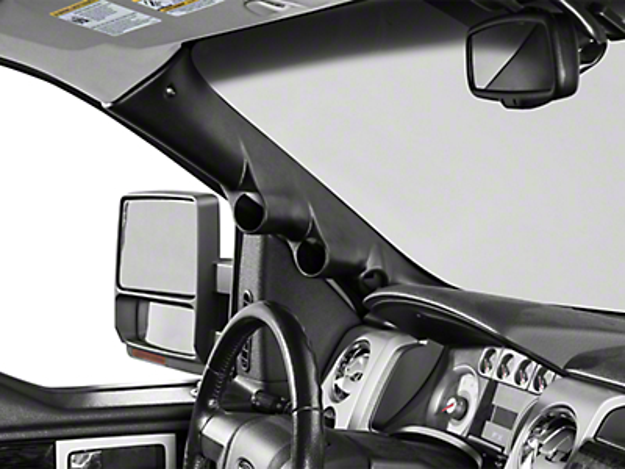Auto Meter Pillar Gauge Pod w/ Speaker Cutout - Dual (09-14 F-150)