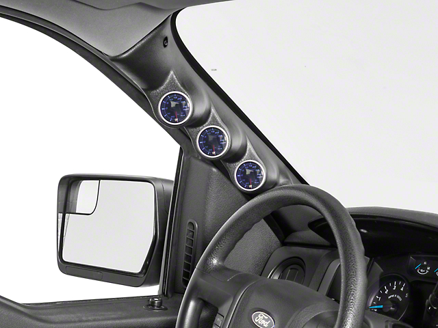 Auto Meter Pillar Gauge Pod w/ Speaker Cutout - Triple (09-14 F-150)