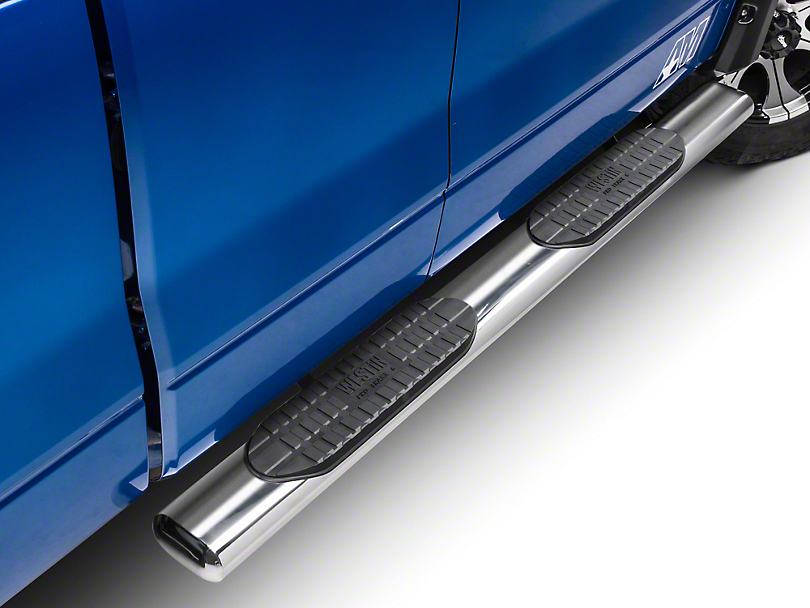Westin Pro Traxx 6 in. Oval Tube Side Steps - Stainless (09-14 F-150 SuperCab, SuperCrew; Excluding Harley Davidson & Raptor)