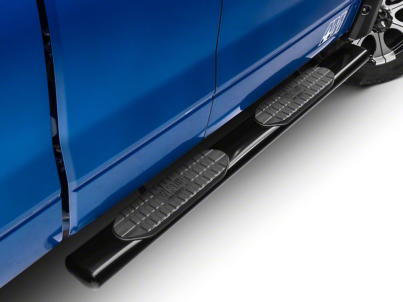 Westin Pro Traxx 6 in. Oval Tube Side Steps - Black (09-14 SuperCab, SuperCrew; Excluding Harley Davidson & Raptor)