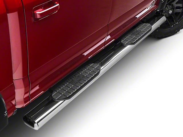 Westin Pro Traxx 6 in. Oval Tube Side Steps - Stainless Steel (15-18 SuperCab, SuperCrew)