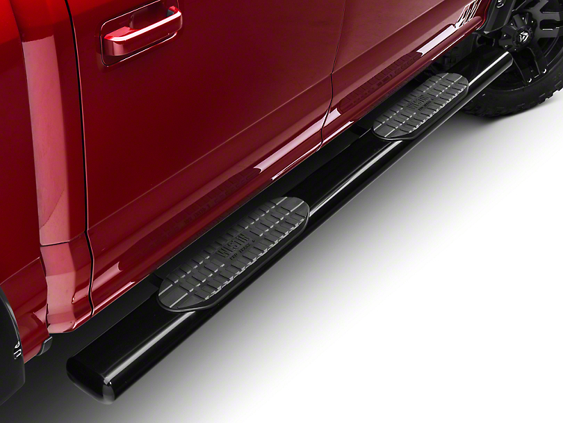 Westin Pro Traxx 6 in. Oval Tube Side Steps - Black (15-18 SuperCab, SuperCrew)