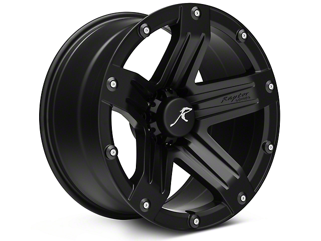 Raptor Series Indecent Exposure Matte Black 6 Lug Wheel