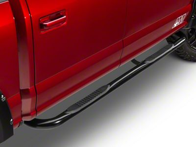 Barricade 3 in. 90 Degree Bent End Side Step Bars - Black (15-19 F-150 Regular Cab)