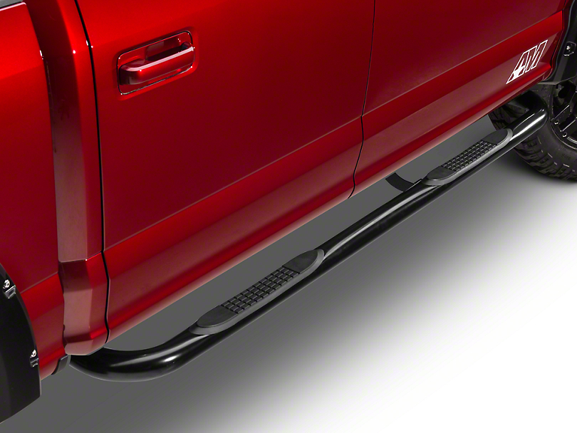 Barricade 3 in. Side Step Bars - 90 Degree Ends - Black (15-18 F-150)