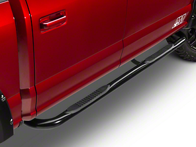 Barricade 3 in. Side Step Bar - 90 Degree Ends - Black (15-17 SuperCab)