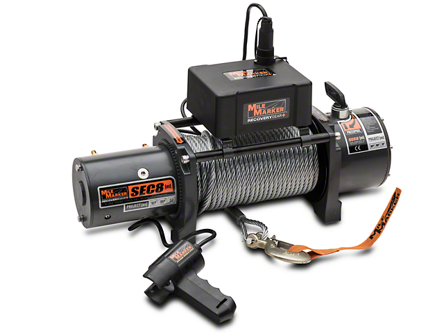 Mile Marker SEC8 ES 8,000 lb. Waterproof Electric Winch (97-18 All)
