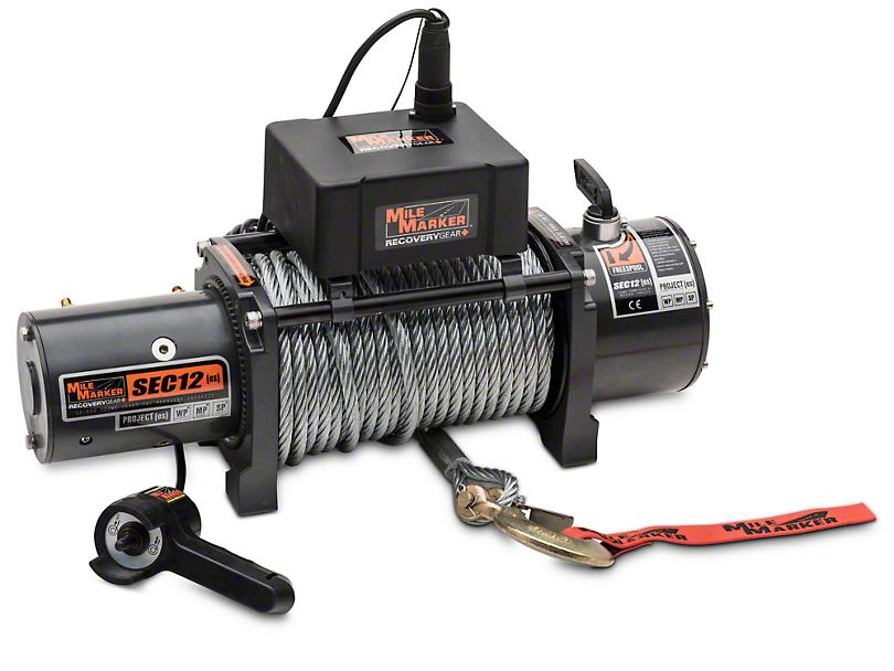 Mile Marker SEC12 ES 12,000 lb. Waterproof Electric Winch