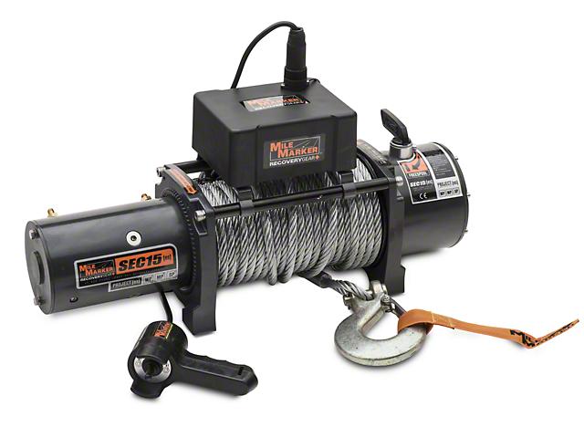 Mile Marker SEC15 ES 15,000 lb. Waterproof Electric Winch (97-17 All)