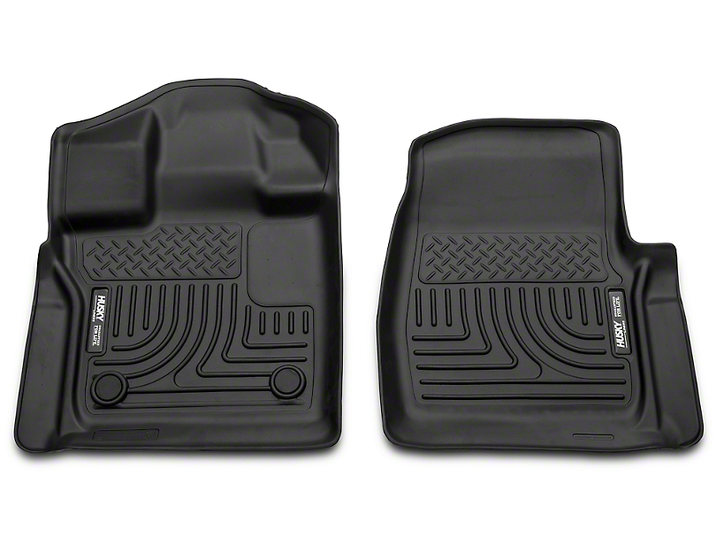 Husky Weatherbeater Front Floor Liners - Black (15-18 F-150)