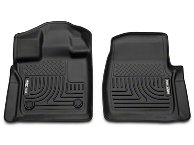 Husky Weatherbeater Front Floor Liners - Black (15-19 F-150)