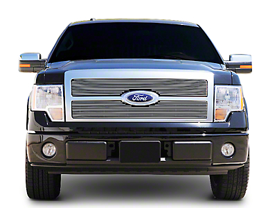 T-REX Billet Series 2-Piece Upper Grille Insert - Polished (09-12 Platinum)