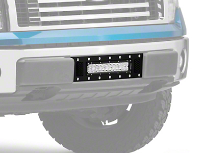 T-REX Torch Series Lower Bumper Grille Insert w/ 12 in. LED Light Bar - Black (09-14 All, Excluding Raptor, Harley Davidson & 2011 Limited)