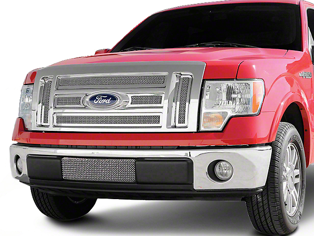 T-REX Upper Class Series 6-Piece Upper Overlay Grille - Polished (09-12 Lariat, King Ranch)