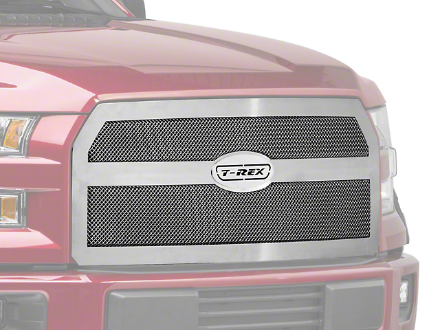 T-REX Upper Class Series Upper Replacement Mesh Grille - Polished (15-17 F-150, Excluding Raptor)