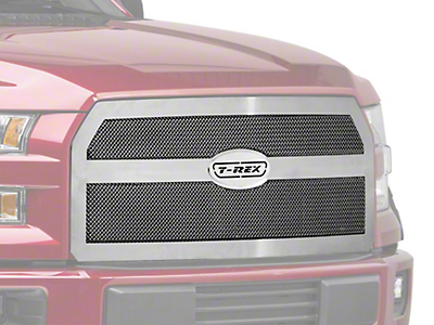 T-REX Upper Class Series Upper Replacement Mesh Grille - Polished (15-17 All, Excluding Raptor)