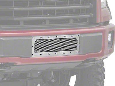 T-REX X-Metal Series Lower Bumper Mesh Grille Insert - Polished (15-17 All, Excluding Raptor)