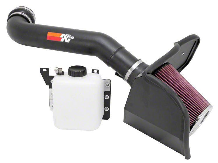 Add K&N Series 77 High Flow Performance Cold Air Intake w/ Coolant Reservoir - Black (10-14 6.2L Raptor)