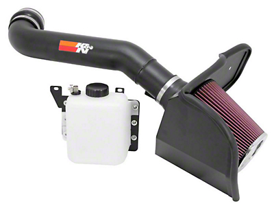 K&N Series 77 High Flow Performance Cold Air Intake w/ Coolant Reservoir - Black (10-14 6.2L Raptor)
