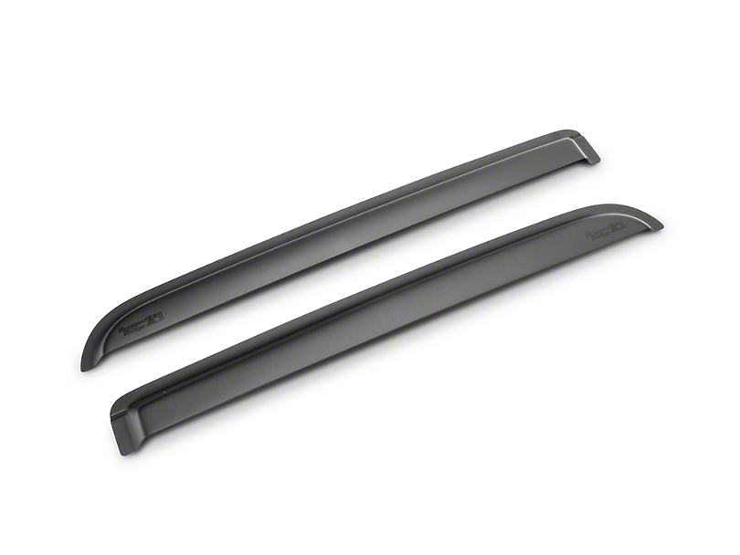 Rugged Ridge Rear Window Visors - Matte Black (09-14 SuperCrew)