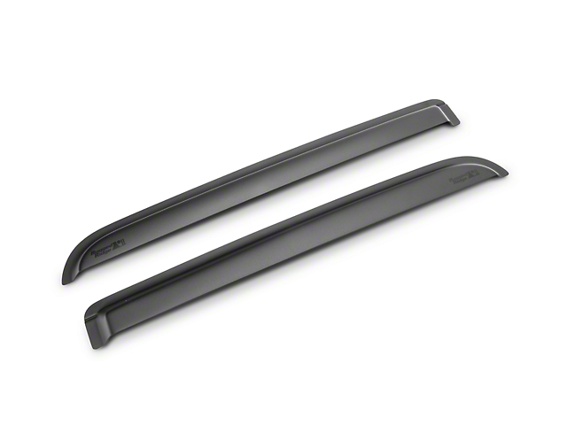 Rugged Ridge Rear Window Visors - Matte Black (09-14 SuperCrew)