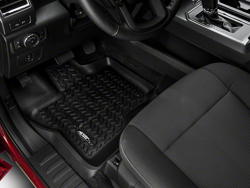 Rugged Ridge All Terrain Front Floor Liners - Black (15-18 F-150)